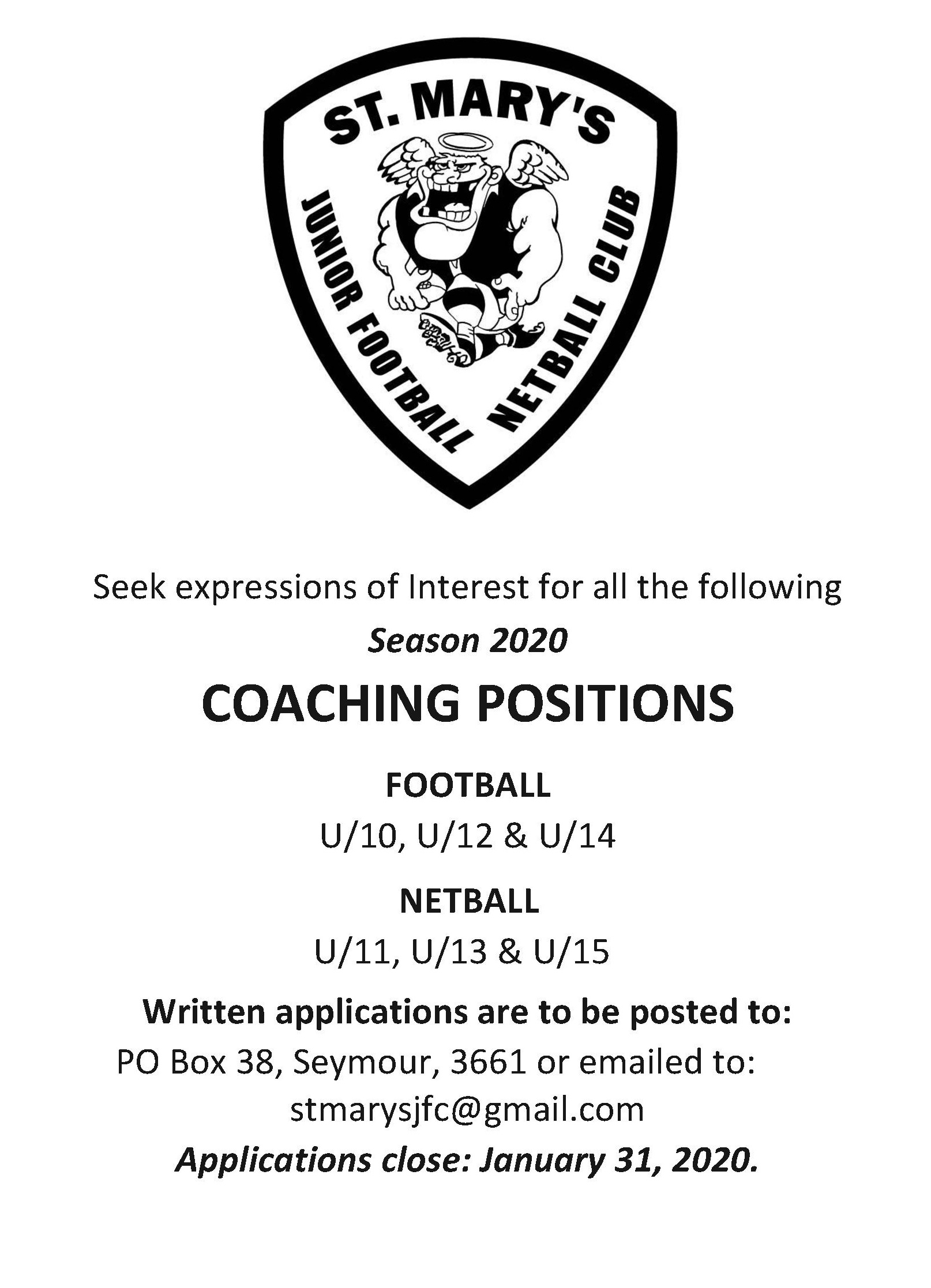 SMJFNC Expressions of Interest Coaching 2020