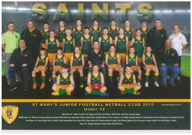 Saint Marys Team Photo 2015 U12 Football