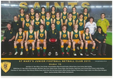 Saint Marys Team Photo 2015 U16 Football sm